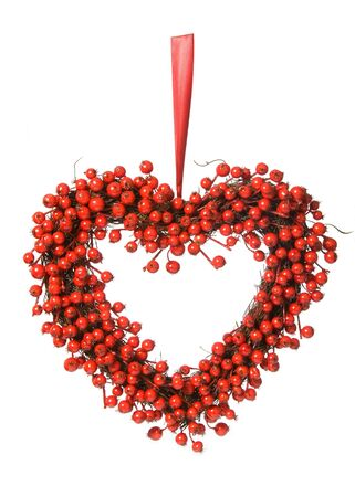 heartshaped: Red berry wreath