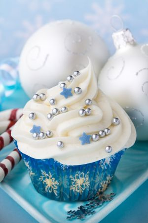christmas bauble: Christmas cupcake