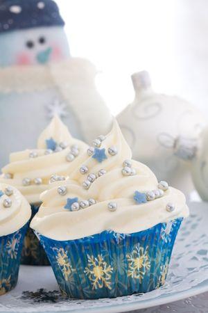 Christmas cupcakes Stock Photo - 5627437