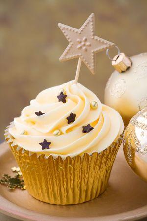weihnachtskuchen: Weihnachten cupcake Lizenzfreie Bilder