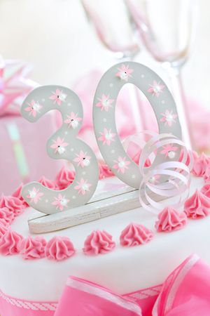 Thirtieth birthday cake photo