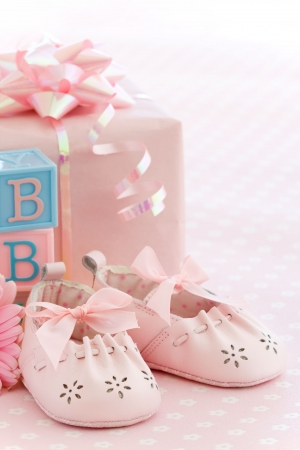 Baby shower for a baby girl photo