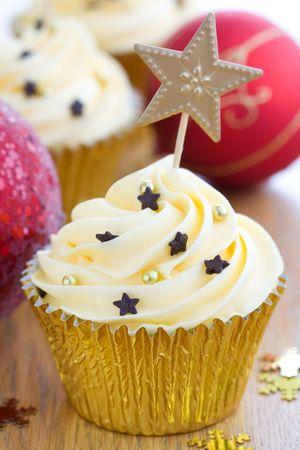 fairy cakes: Christmas cupcake