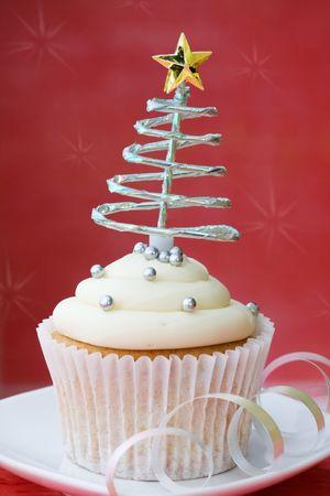Christmas cupcake Stock Photo - 5691659