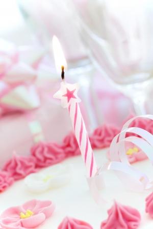 velas de cumplea�os: Pastel de cumplea�os