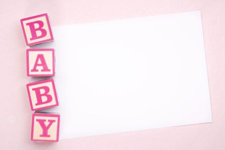 Blank baby announcement photo