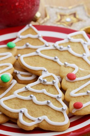 many christmas baubles: Christmas cookies