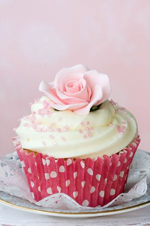Rose cupcake Stock Photo - 5795930