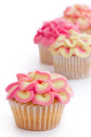 Mini flower cupcakes Stock Photo - 5864541