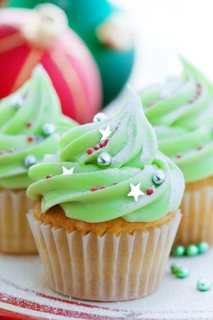 Christmas cupcakes Stock Photo - 5882698