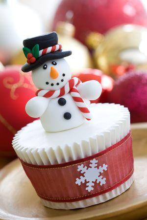 sugarcraft: Christmas cupcake
