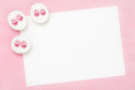 Blank baby shower invitation Stock Photo - 5902851