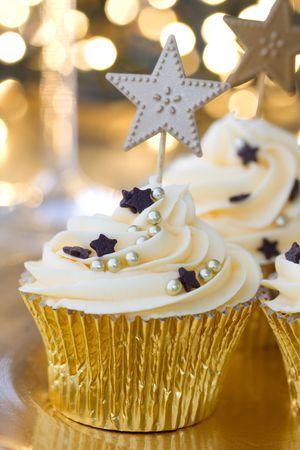 New Year celebration cupcakes Stock Photo - 6047876