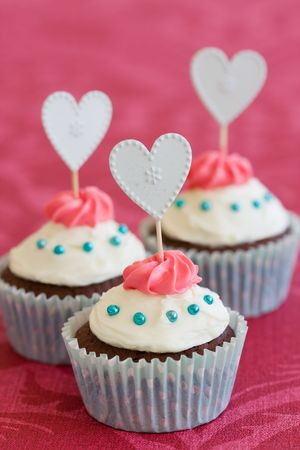 Valentine cupcakes Stock Photo - 6144056