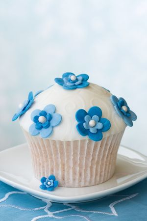 Flower cupcake Stock Photo