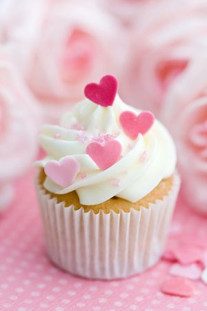 frosted: Valentine cupcake