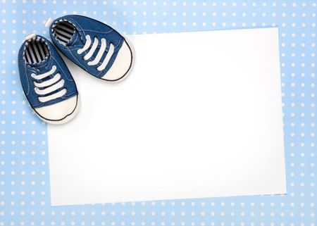 Blank card for new baby or party invitation photo
