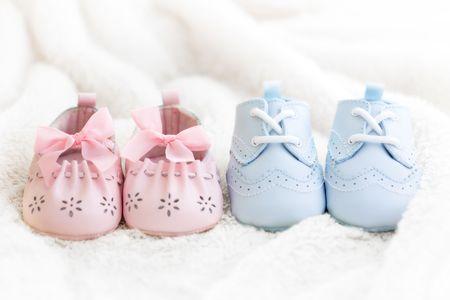 Zapatos beb�  Foto de archivo