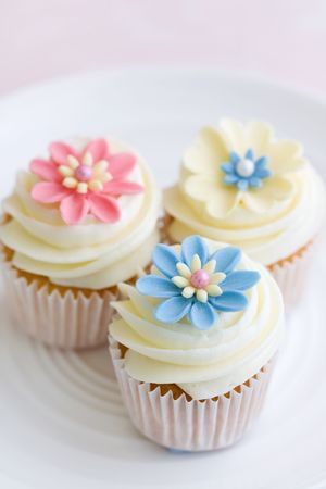 Flower cupcakes Stock Photo - 6322992