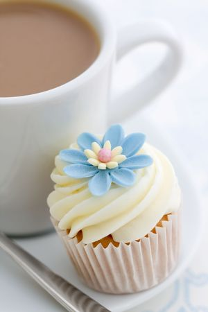 Coffee and cupcake  photo