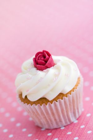 Rosebud cupcake Stock Photo - 6322990
