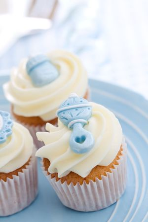 baby cupcake: Cupcakes for a baby shower