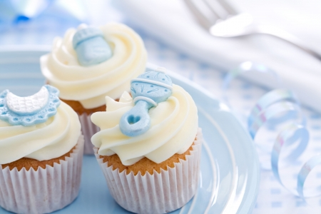 Cupcakes for a baby shower Stock Photo - 6322996