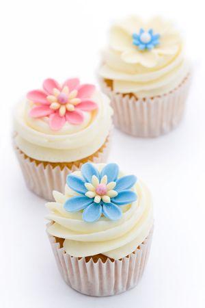 Cupcakes de flor Foto de archivo