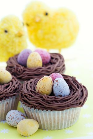 childrens food: Easter cupcakes