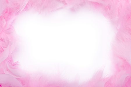 feminine background: Pink feather boa frame