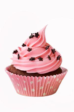 chocolate cupcakes: Pink cupcake