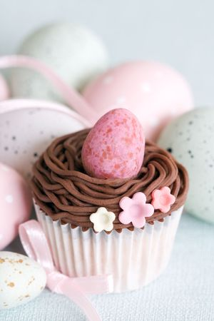 Cupcake de Pascua  Foto de archivo