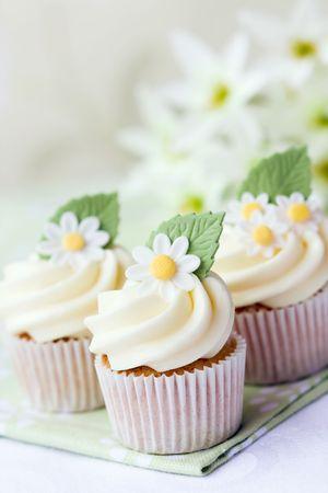 icing sugar: Daisy cupcakes