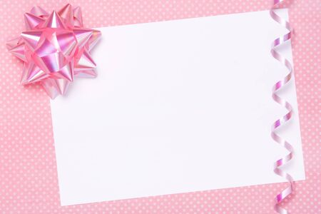 Blank party invite or gift tag photo