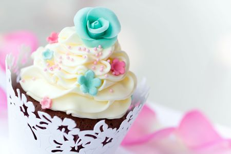 Boda cupcake Foto de archivo