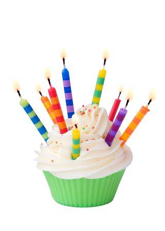 velas de cumplea�os: Cupcake de cumplea�os