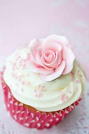 Rose cupcake Stock Photo - 6679992