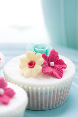 flores fucsia: Flor cupcake