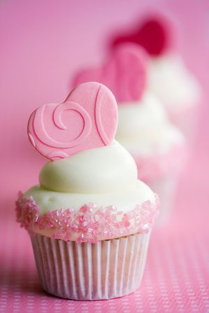 Valentine cupcakes Stock Photo - 6843318