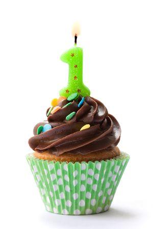 gateau bougies: Cupcake anniversaire