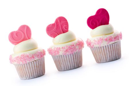 Valentine cupcakes Stock Photo - 6843323