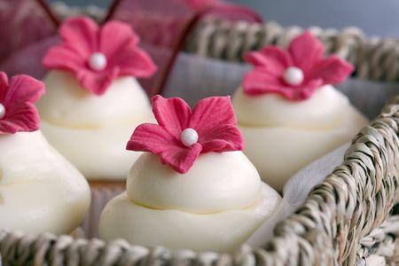hamper: Cupcaked gift box Stock Photo