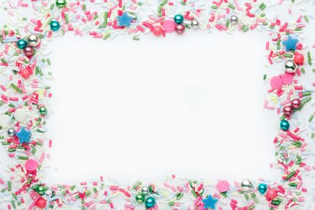 hundreds and thousands: Party background Stock Photo