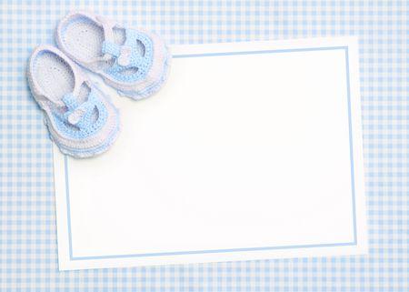 Invitaci�n de ducha de beb� en blanco