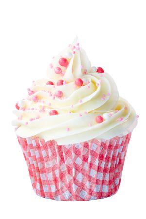 cupcake: Cupcake rose et blanc