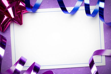 party streamers: Party background Stock Photo
