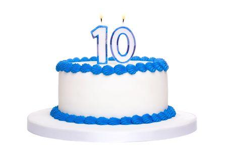 numero diez: Pastel de cumplea�os