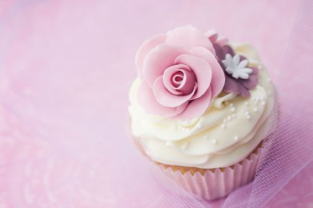 Wedding cupcake  Stock Photo