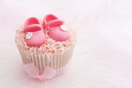 Cupcake for a little girl Stock Photo - 7141181