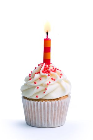 Geburtstag cupcake Standard-Bild
